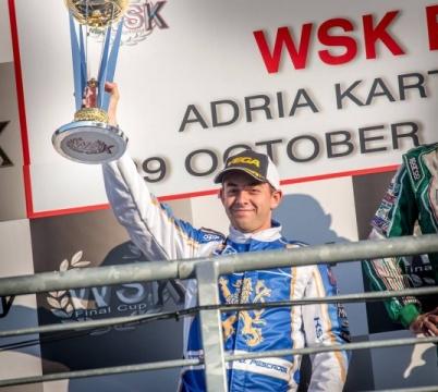 WSK Final Cup - Podio de David Vidales y Jorge Pescador en Adria