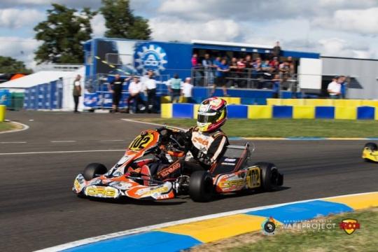 Mundial KZ2 - Sin suerte los nuestros, Pedro Hiltbrand apeado del podio.