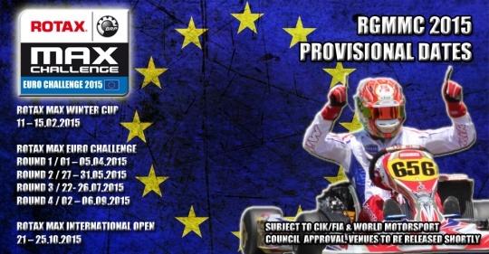 Publicado el calendario Euro Rotax 2015