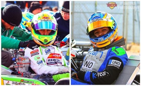 Mari Boya e Isidro Callejas, nuestros pilotos en el CIK-FIA Academy Trophy