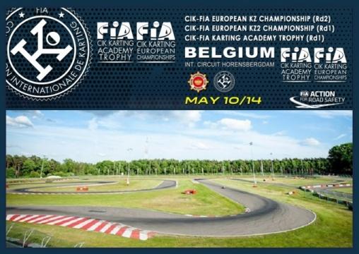 Europeo CIK-FIAen Genk para KZ, KZ2 y Academy Trophy.