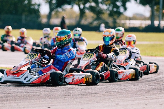 Rotax GF Senior: Axel Charpentier peleó hasta el final