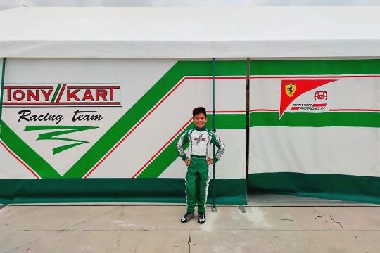 """Christian Costoya, piloto del Tony Kart Racing Team: """"Es un proyecto a largo plazo muy ilusionante""""."""