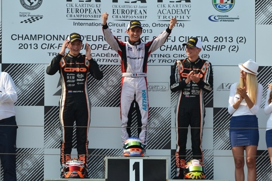 Lando Norris y Max Verstappen nuevos campeones de Europa KFJ y KF.