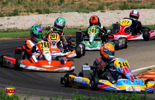 Series Rotax Junior - Rubén Sabater hace doblete en Alcañiz