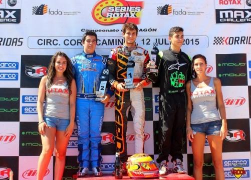 Rotax Max - Primera victoria del año para Javier Rodelas, Eduardo García más líder.