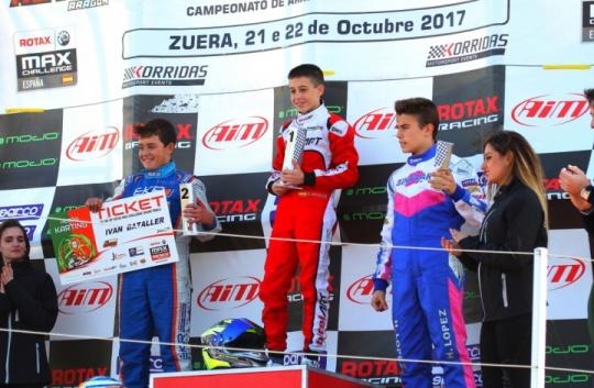 Series Rotax Junior - Victorias de Nogales y Bataller, quien se hace con el título.