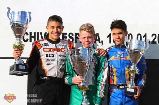 Winter Series Junior - Triunfo de Aaron Walker, podio para Lucas Pons y Eric Alanis
