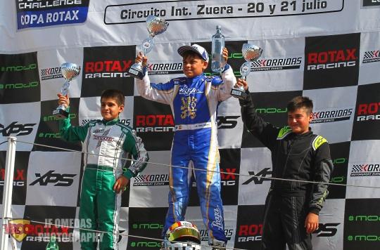 Copa Rotax Mini - Adrián Malheiro y Alberto Hurtado toman ventaja