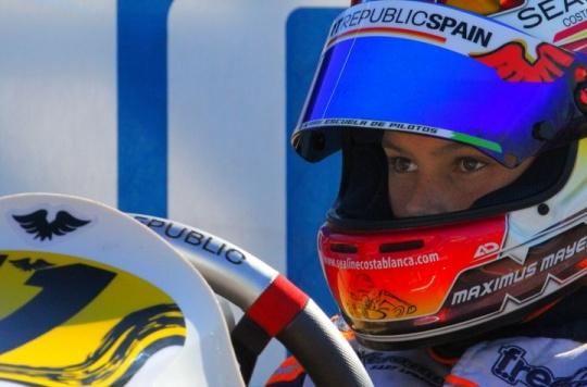 Max Mayer en el CIK-FIA Academy Trophy