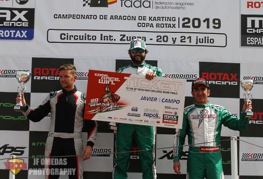 Copa Rotax DD2 Master: Título y sexto pase a las Grand Finals para Javier Campo