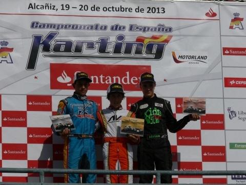 CEK-KF3. Alex Machado hace pleno en Alcañiz y Guillermo Russo se lleva el campeonato