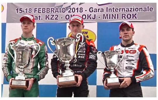 Winter Cup Lonato - Podio de Hiltbrand en OK. Top 10 para Gómez en OKJ.