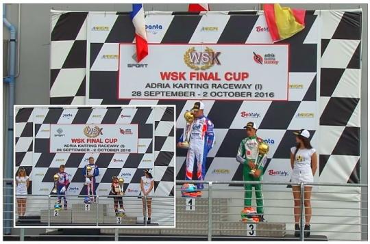 WSK Final Cup - Podio de David Vidales en OKJ, victoria de Maya Weug en Mini