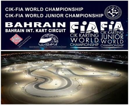 Mundial CIK-FIA OK y OKJ en la noche de Bahrein