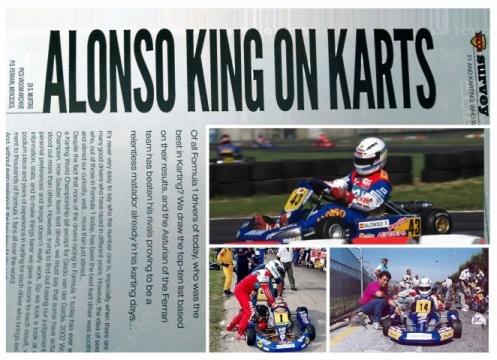 La primera huella de Fernando Alonso: El karting