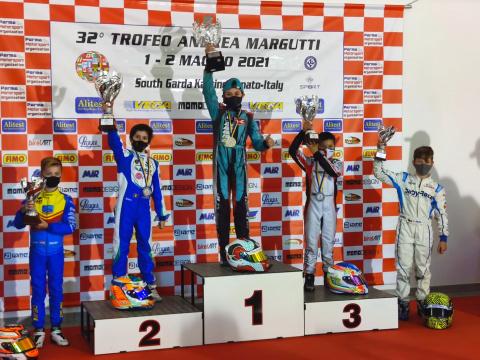 Podio de Christian Costoya en el 32 Trofeo Andrea Margutti