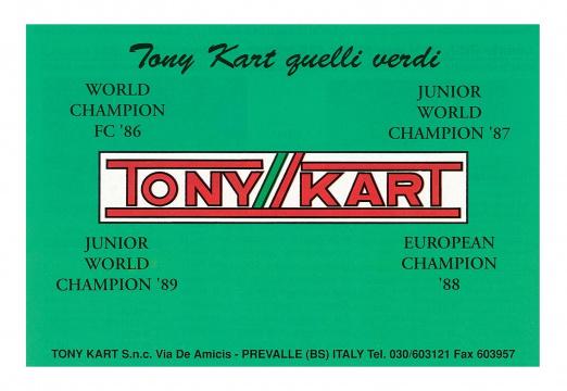 35 años de éxitos mundialistas para Tony Kart