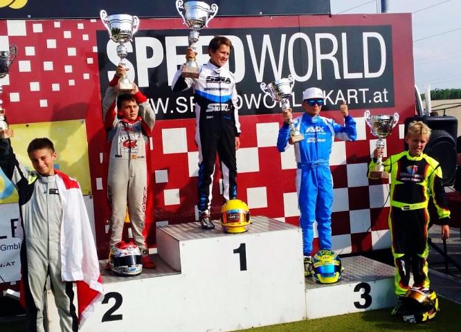 Euro Finale Rotax - José Antonio Gómez logró el podio en Austria
