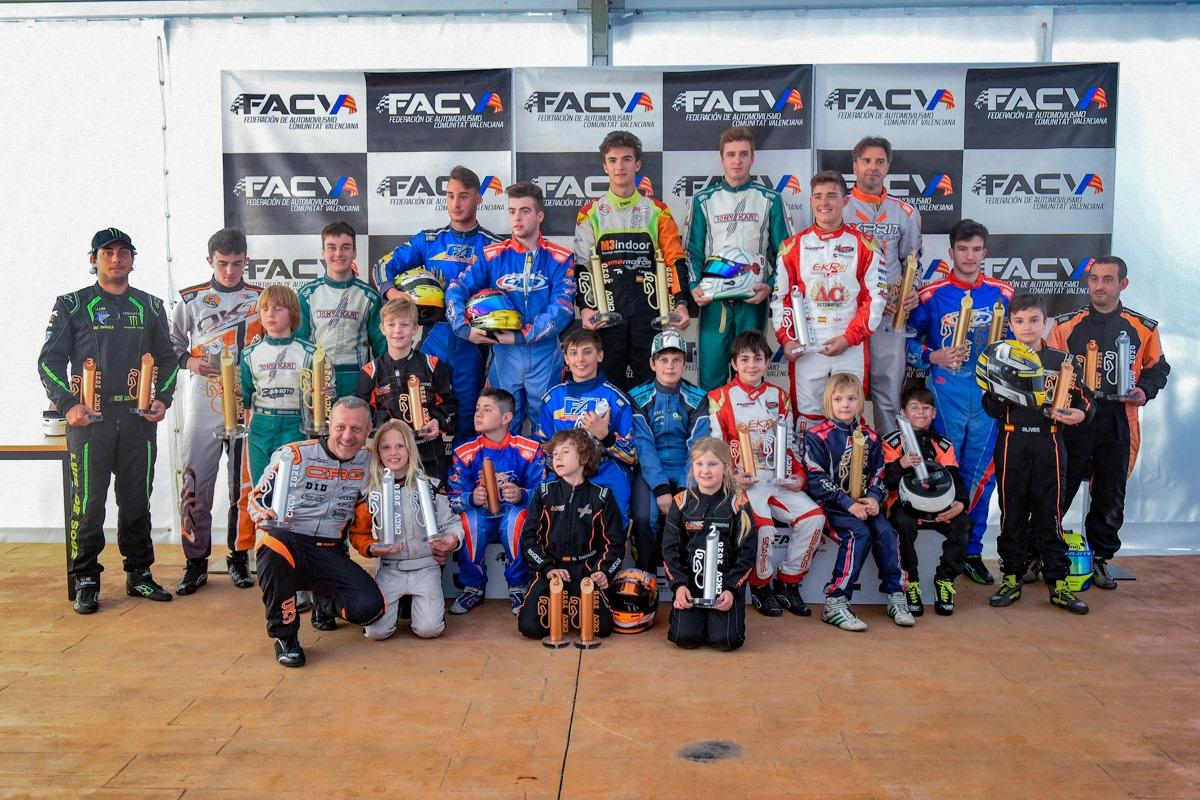 CKCV 2020: primeros ganadores del año en el Fast Circuit de Cheste
