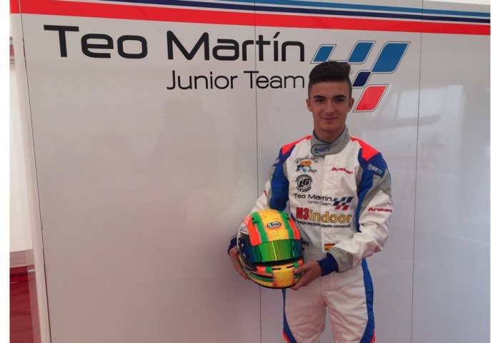 Rubén Moya nuestro piloto enel CIK-FIAAcademy Trophy
