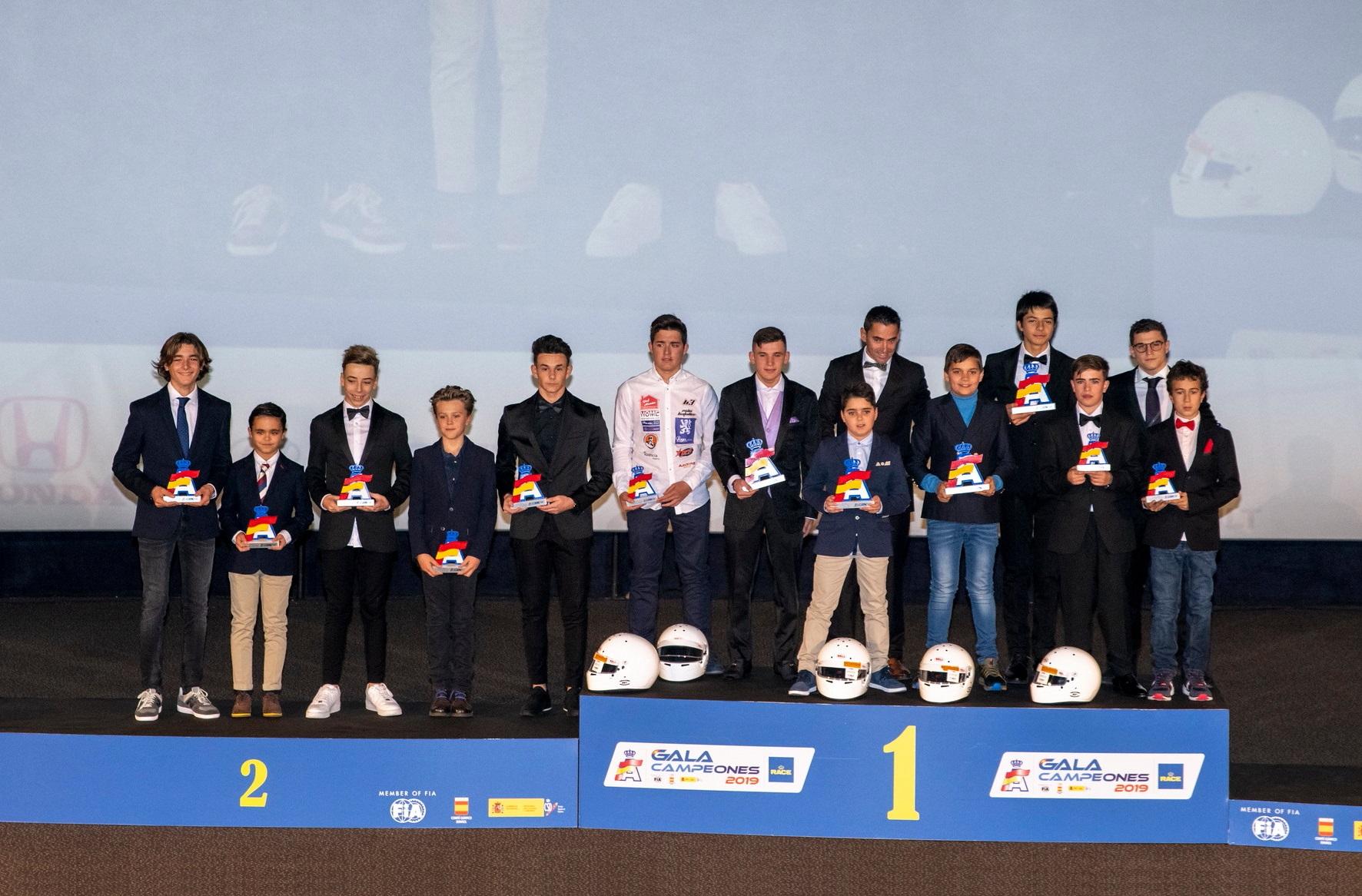 El karting en la Gala de Campeones RFEdA 2019