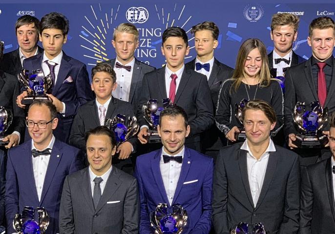 Mari Boya en la Gala de Campeones Karting FIA