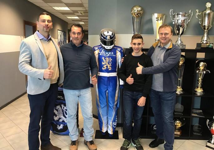 Carles Martínez piloto oficial del Praga Racing Team en OK-Junior