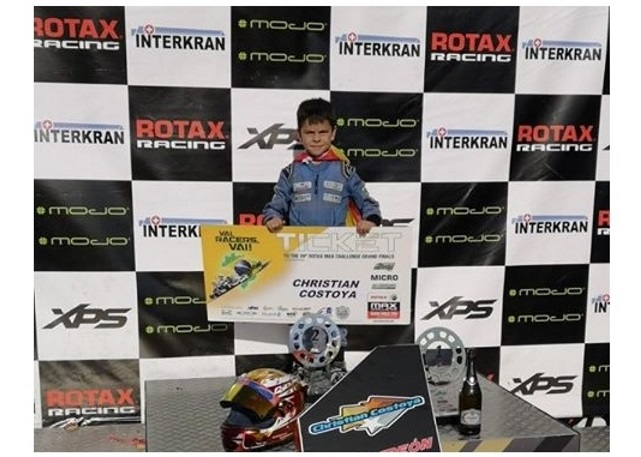 Trofeu Rotax Micro - Título y ticket rumbo a las Grand Finals para Christian Costoya