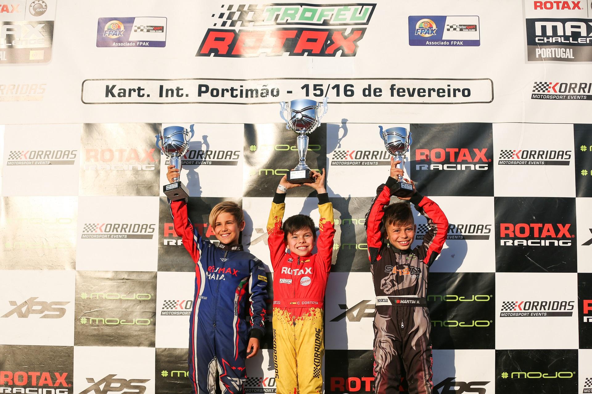 Christian Costoya sigue siendo el piloto a batir en el Trofeu Rotax de Portugal