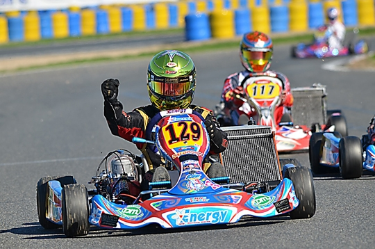 Super Cup KZ2 . Triunfo de Dorian Boccolacci, Jorge Pescador en la Final