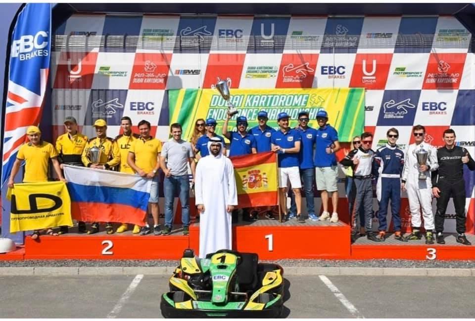 Podio español en las 24 horas de Karting de Dubai 2019