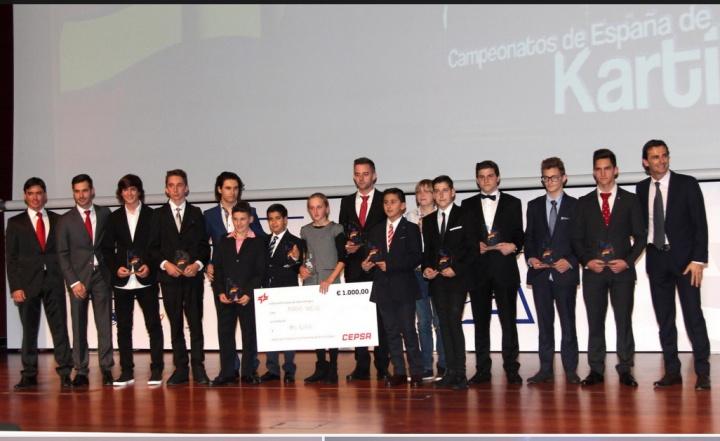El karting en la Gala de Campeones de la RFEdA