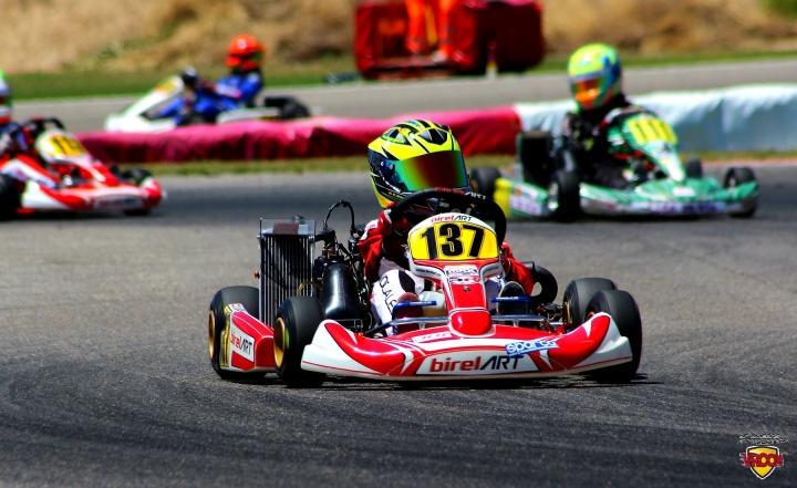 Mini Rotax - Primer triunfo del año por partida doble para Daniel Nogales.