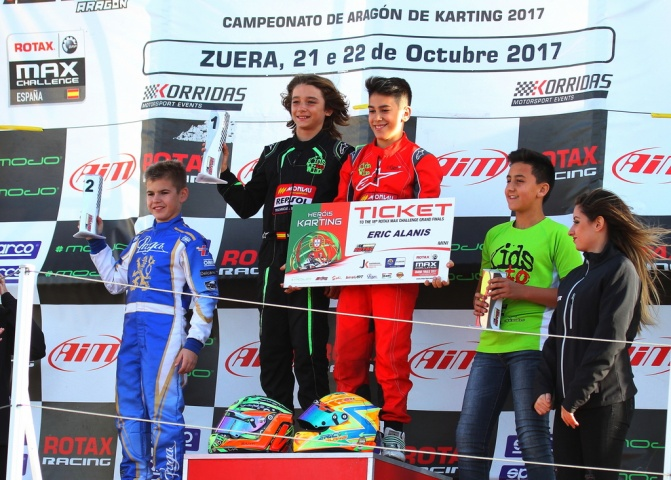 Series Rotax Mini - Doblete de Santi Vallve, Eric Alanis campeón