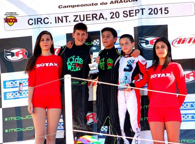 Series Rotax Mini Zuera - Mari Boya y Quique Bordas se reparten las victorias.