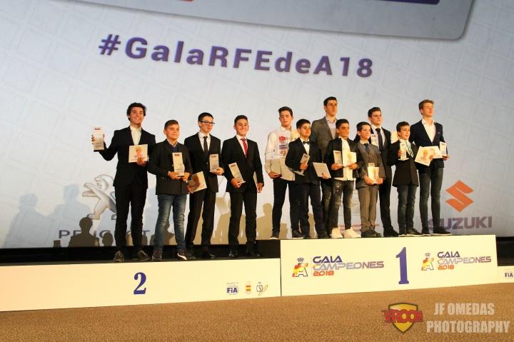 El karting en la Gala de Campeones RFEdA 2018