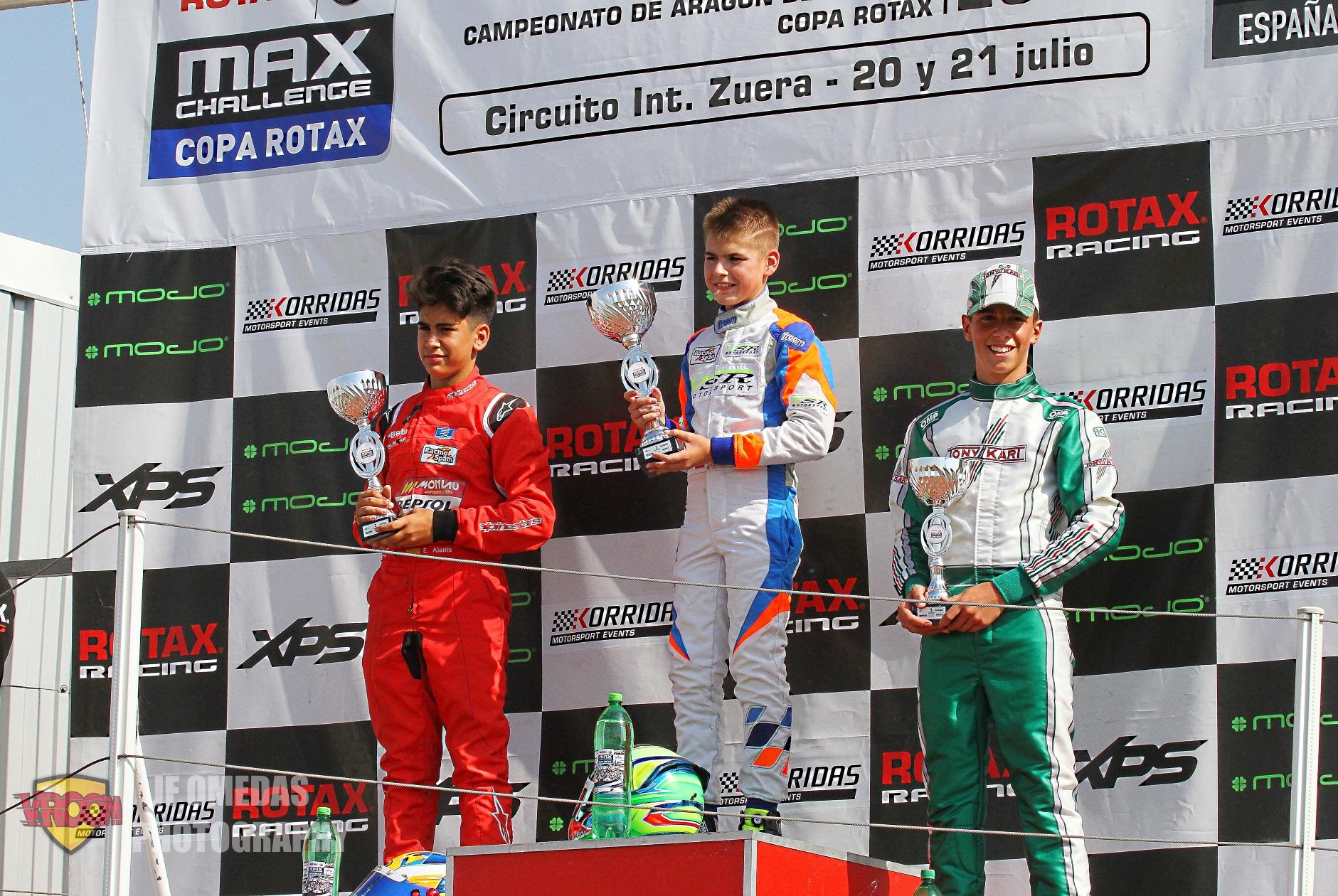Copa Rotax Junior - Félix Aparicio en cabeza, seguido de Eric Alanis