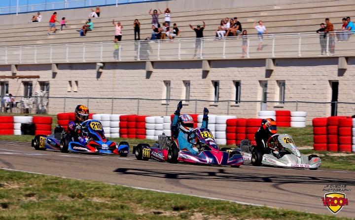 Series Rotax Junior Zuera - Victoria por partida doble para Óscar Palomo