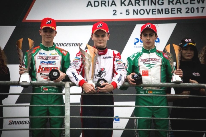 WSK Final Cup - Nuevo podio de David Vidales