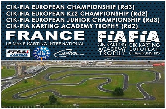 El europeo CIK-FIA en Le Mans para OK, OKJ, KZ2 y Academy Trophy