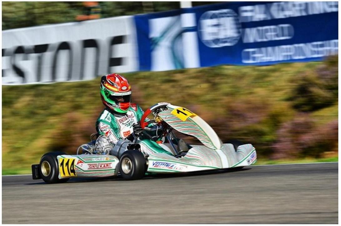 Campeonato del Mundo FIA Karting: Primera fila para David Vidales en KZ2