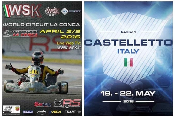 WSK con título español en juego en Adria y X30 Euro Series en Castelletto.