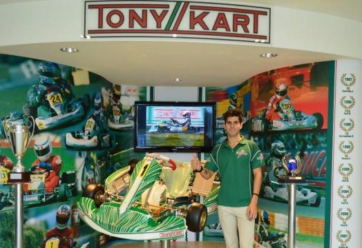 Jaime Alguersuari en el Mundial de KZ con Tony Kart