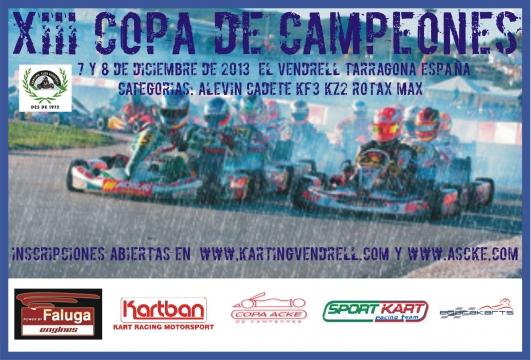 Abierto el plazo de inscripción de la Copa de Campeones 2013