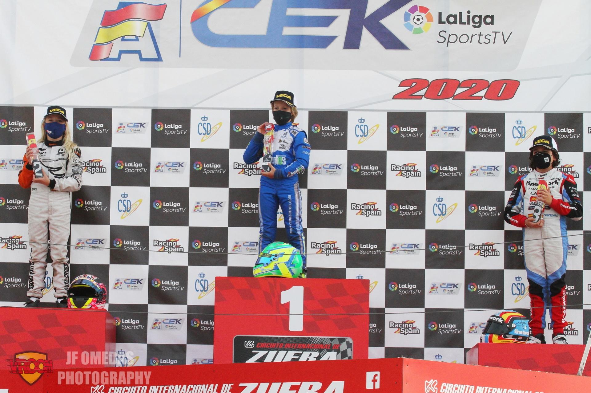 CEK MINI - Raúl Zunzarren vuelve a ganar, Edu Robinson campeón