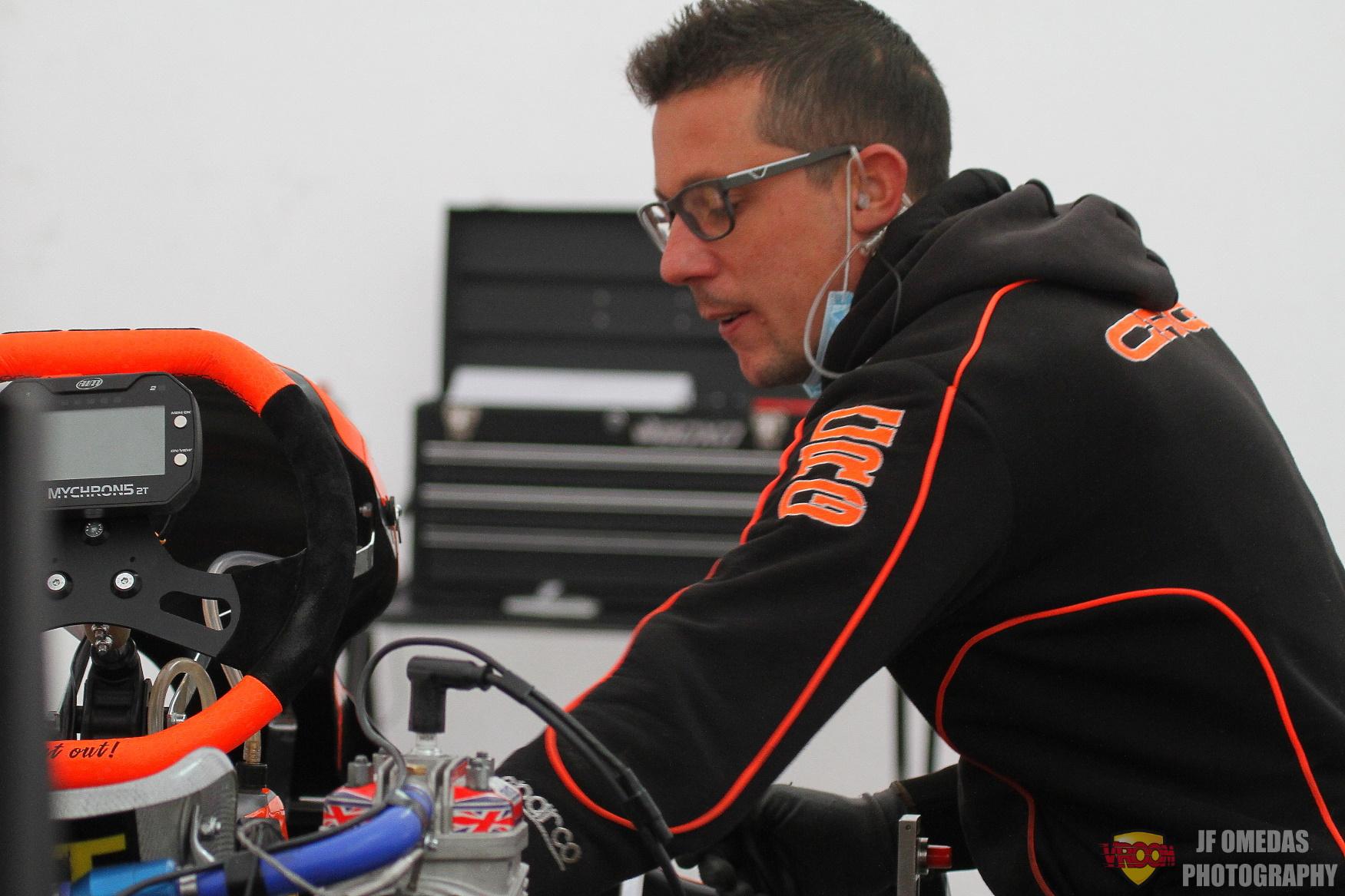 Mecánicos de nuestro karting: Gerard Sospedra (MDC Racing)