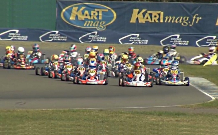 Iame International Final Mini -  Miguel Peiró quinto tras una espectacular remontada