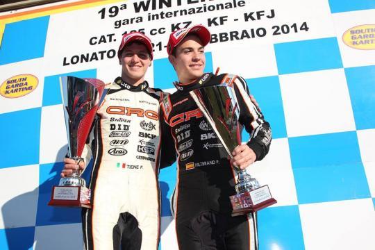 Winter Cup Lonato. De Conto vence en KZ2, podio de Pedro Hiltbrand en KF2