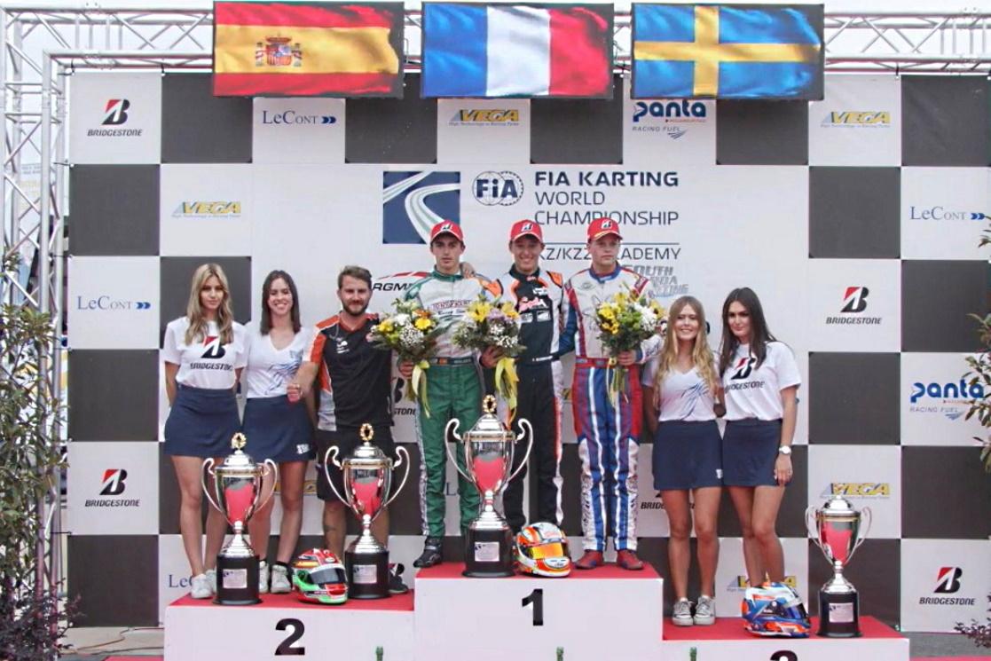 Mundial FIA KZ2: ¡David Vidales subcampeón del mundo!